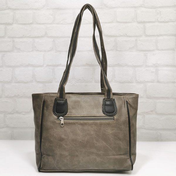 Удобна чанта Еврика кафява с черно - EvrikaShop