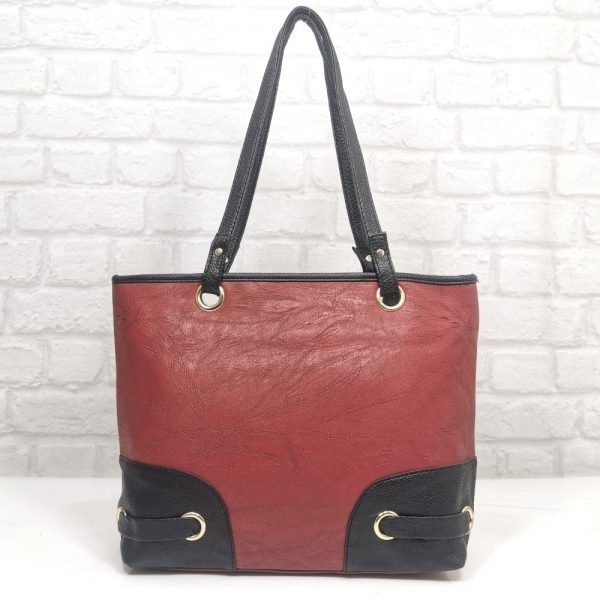 Дамска чанта Еврика червено с черно - EvrikaShop