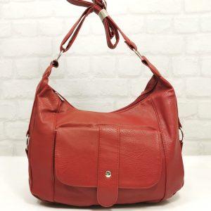 Спортно-елегантна дамска чанта червена - EvrikaShop