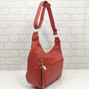 Спортно-елегантна чанта Еврика в червено - EvrikaShop