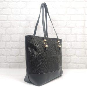 Елегантна българска дамска чанта Еврика черна - EvrikaShop