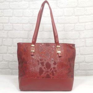 Дамска българска чанта Еврика червена - EvrikaShop