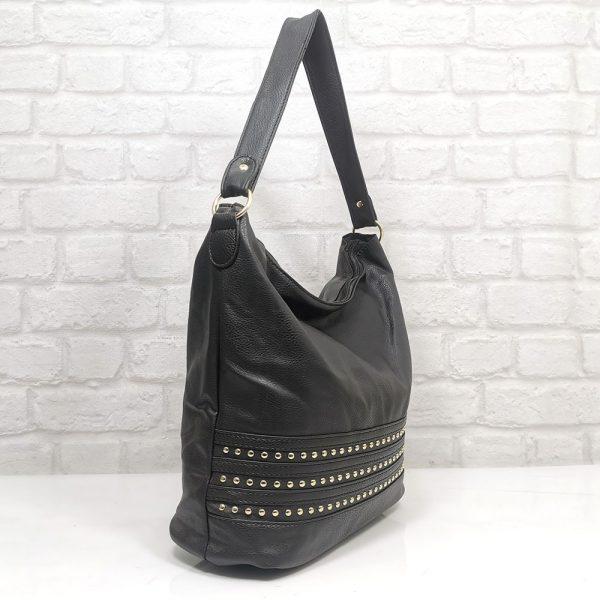 Българска чанта Еврика черна, тип торба - EvrikaShop
