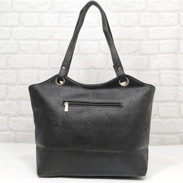 Дамска елегантна чанта Еврика в черно - EvrikaShop