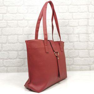 Дамска чанта Еврика в червен цвят - EvrikaShop