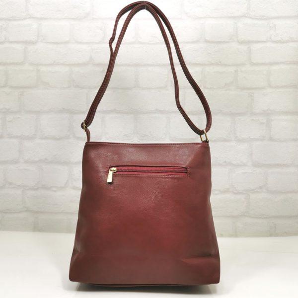 Удобна дамска чанта Еврика червена - EvrikaShop