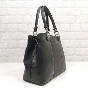 Елегантна дамска чанта David Jones в черен цвят - EvrikaShop