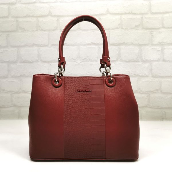 Червена дамска чанта David Jones - EvrikaShop