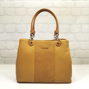 Елегантна дамска чанта David Jones в жълто - EvrikaShop