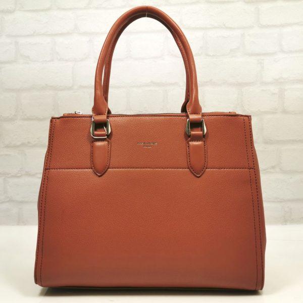 Дамска чанта David Jones в цвят охра сиена - EvrikaShop