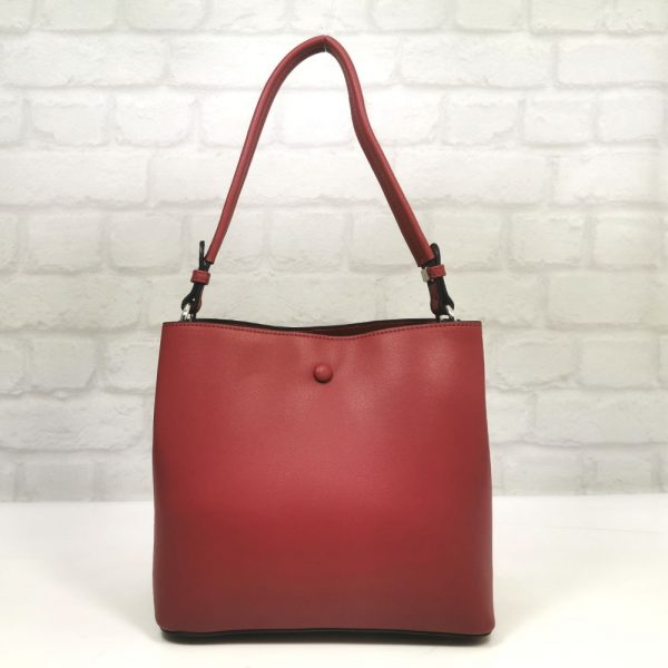 Стилна чанта David Jones в червено - EvrikaShop