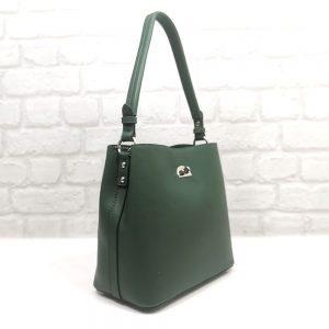 Дамска чанта David Jones тъмно зелена - EvrikaShop