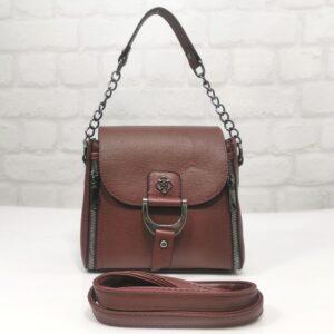 Малка чанта Еврика бордо с практично разпределение - EvrikaShop