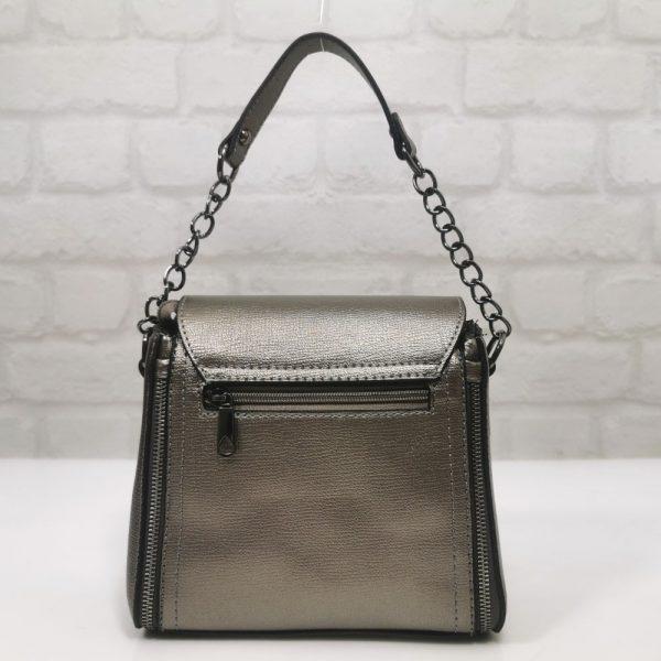 Малка стилна чанта Еврика сребриста инокс - EvrikaShop