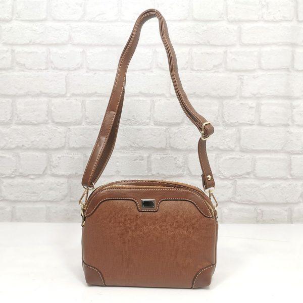 Малка дамска чанта Еврика кафява - EvrikaShop