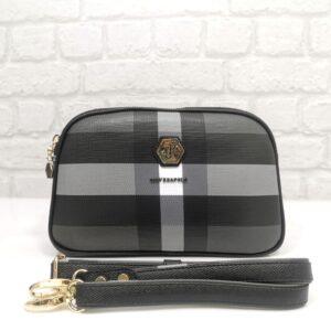 Чанта Silver Polo сиво - черна гама - EvrikaShop