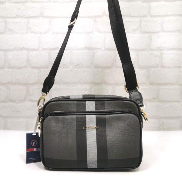 Дамска Чанта Silver Polo черно-сива гама - EvrikaShop