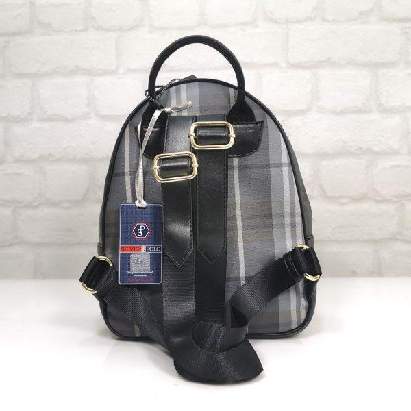Дамска раница Silver Polo в черна със сиво - EvrikaShop