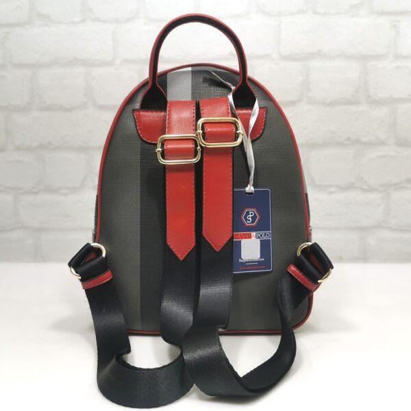 Дамска раница Silver Polo в черно с червено - EvrikaShop