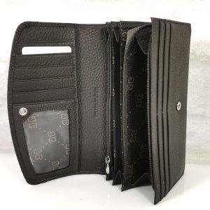 Дамско портмоне естествена кожа тъмно кафяво - EvrikaShop