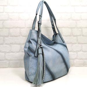 Дамска чанта Мария синя гама тип торба - EvrikaShop