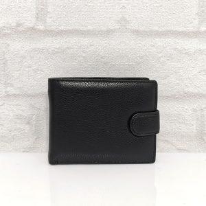 Мъжки портфейл от естествена кожа черен - EvrikaShop