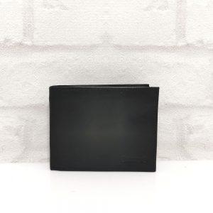 Стилен портфейл от естествена кожа черен - EvrikaShop