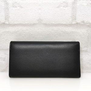 Дамско портмоне естествена кожа черно голямо - EvrikaShop
