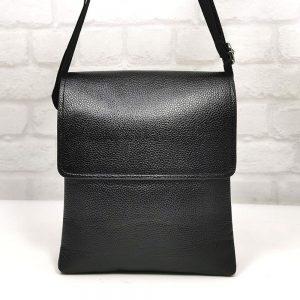 Голяма мъжка кожена чанта черна - онлайн магазин EvrikaShop