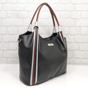Дамска чанта Еврика черна от еко кожа - EvrikaShop