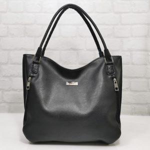 Италианска дамска чанта Мария С черна - EvrikaShop