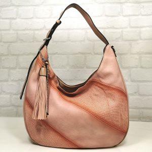 Дамска чанта Мария С розова от Италия - EvrikaShop