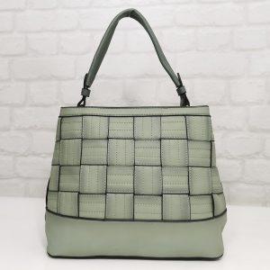 Дамска чанта Мария зелена с преливащ ефект - EvrikaShop