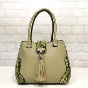 Дамска чанта Мария С зелена малка - EvrikaShop