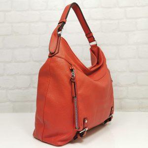 Елегантна дамска чанта Мария С червена - EvrikaShop