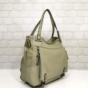 Дамска чанта Мария С зелена от Италия - EvrikaShop
