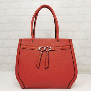 Дамска чанта Мария С червена от еко кожа - EvrikaShop