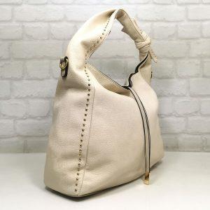 Дамска чанта Мария С екрю тип торба - EvrikaShop