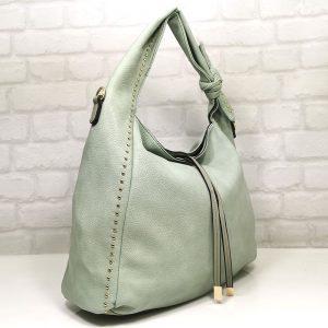 Чанта Мария С зелена тип торба - EvrikaShop