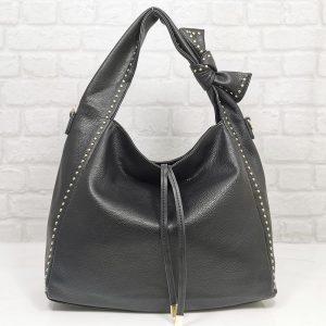 Италианска чанта Мария С черна - EvrikaShop
