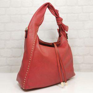 Чанта Мария С червена от Италия тип торба - EvrikaShop