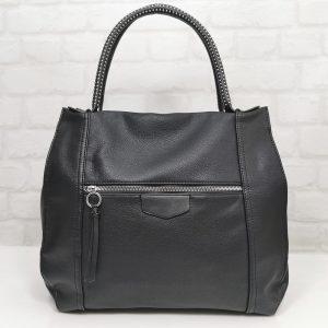 Дамска чанта Мария С черна тип торба - EvrikaShop