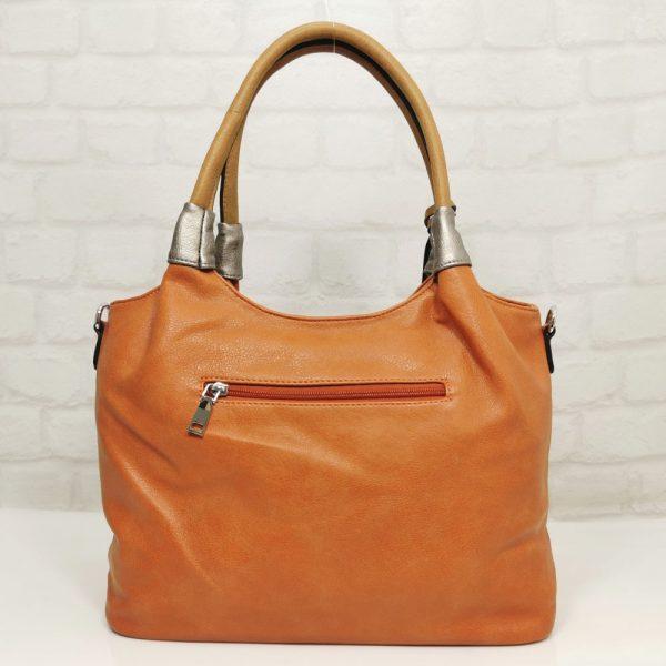 Дамска чанта Мария С портокалова - EvrikaShop