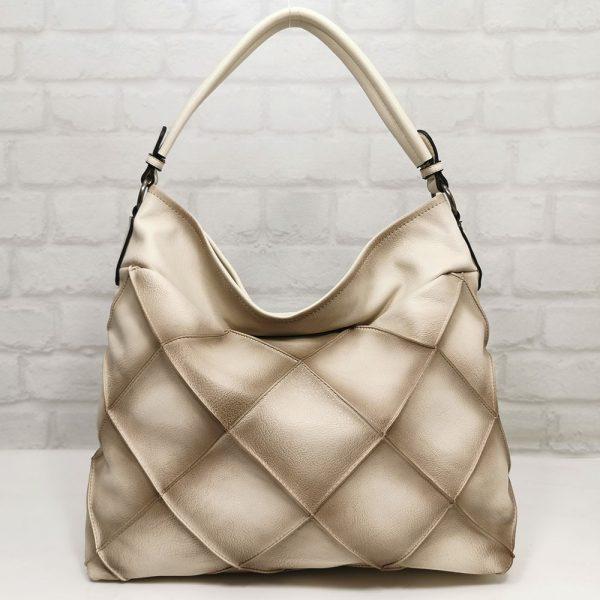 Дамска чанта Мария С екрю от Италия- EvrikaShop