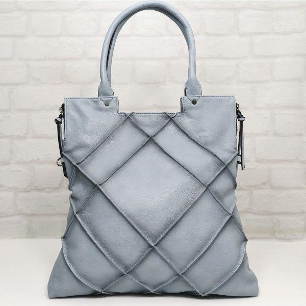Спортно-елегантна дамска чанта Мария синя - EvrikaShop