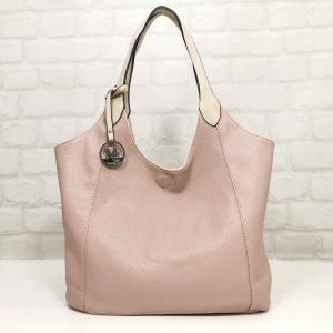 Чанта Мария двулицева екрю/розово - EvrikaShop
