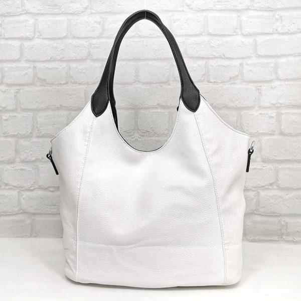 Чанта Мария двулицева черно/бяло - EvrikaShop