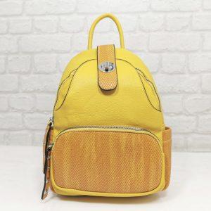 Раница Еврика жълта с много джобчета - EvrikaShop