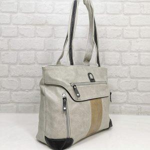 Чанта Еврика мръсно бяло с бежово - EvrikaShop