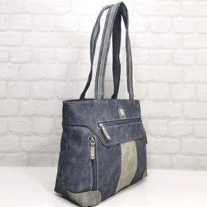 Чанта Еврика 56230Д еко кожа имитация на дънков плат - EvrikaShop